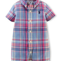 Ralph Lauren Childrenswear Baby Boys Baby Boys Plaid Shortall