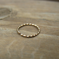 Gold Nose Ring Twist