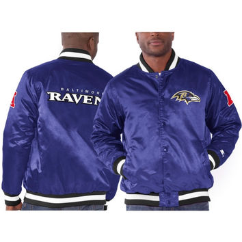 Baltimore Ravens Starter Genuine Satin Jacket – Purple