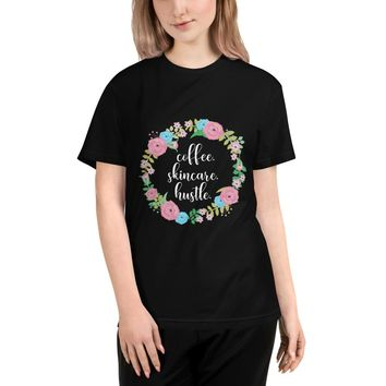 Coffee Skincare Hustle CEO Boss Babe Organic Cotton Tee T-Shirt