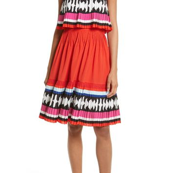 kate spade new york border print strapless dress | Nordstrom
