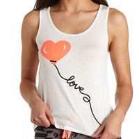 HEART BALLOON LOVE GRAPHIC TANK TOP