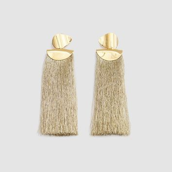 Lizzie Fortunato / Crater Earrings in Metallic