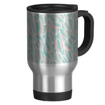 Cool Colorful Ocean Waves Travel Mug