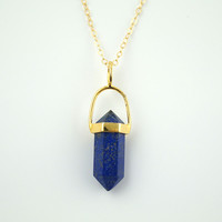 Lapis Lazuli Point Necklace