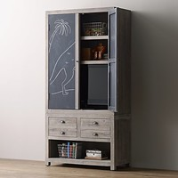 Weller Storage Media Chalkboard Armoire