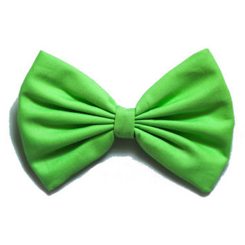 Lime Green Colored Hair Bow