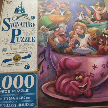 Disney Parks Signature Puzzle 65th Alice Mad Tea Party 1000 pcs Puzzle New Box