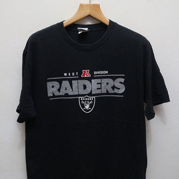 25% OFF Vintage RAIDERS West A Division T Shirt Black Color Size L