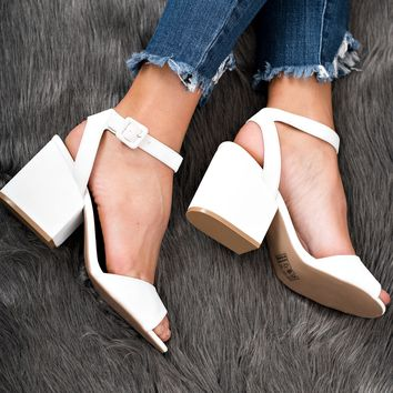 Vintage Forever Strappy Heels (White)