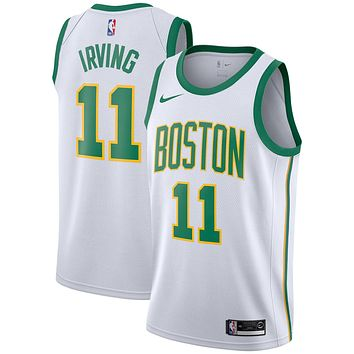 Men's Boston Celtics #11 Kyrie Irving Nike White 2018/19 Swingman Jersey ¨C City Edition