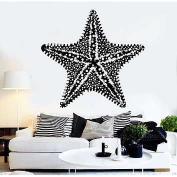 Vinyl Wall Decal Starfish Sea Ocean Marine Animal Stickers Mural Unique Gift (ig4501)