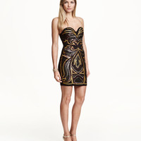 H&M Short Sequined Dress $59.99