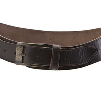 Classico Curved Handmade Leather Belt - Coffee Brown