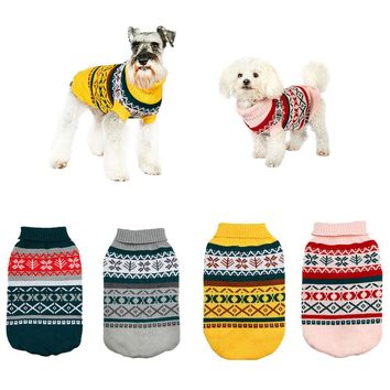 Franchesco Argyle Dog Sweater