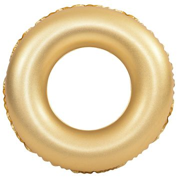 Inflatable Gold Sparkle and Shine 35 Inch Swimming Pool Ring Float