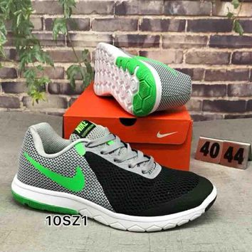 NIKE FLEX EXPERIENCE RN 6 Popular Men Casual Color Matching Comfortable Shock Absorption Breathable Sport Running Shoe Sneakers Grey Black(Green Hook) I-CSXY