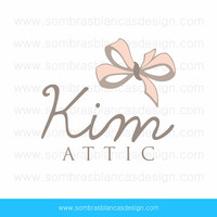 OOAK Premade Logo Design - Pastel Bow - Perfect for a handmade hair accessories shop or a boudoir photographer