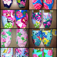 Lilly Pulitzer Custom Painted Toms