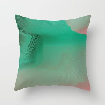 The Valley Throw Pillow by Ducky B