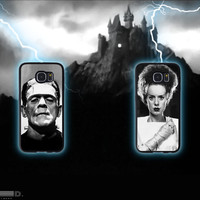 Frankenstein and Bride Set, Custom Phone Case for Galaxy S4, S5, S6