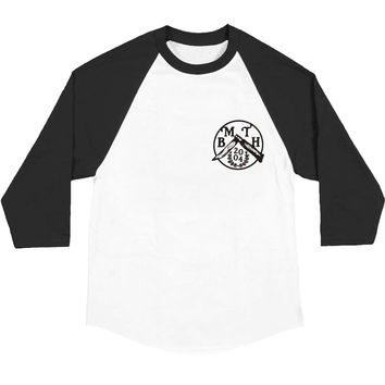Bring Me The Horizon Men's  Flick Knife Baseball Jersey Black/White Rockabilia