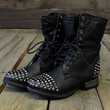 Zeppelin Studded Black Combat Military Boots