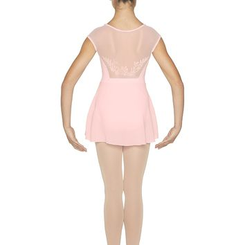 """""""Jezebel"""" Cap Sleeve Leotard with Attached Skirt - Child Size 4-6"""