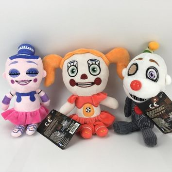 Plush Toys 20cm  At  Sister Location Freddy Foxy Circus Baby Ballora Plush Stuffed Toys Doll for Kids