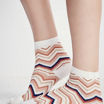Le Bourget Chevron Ankle Sock at Free People Clothing Boutique
