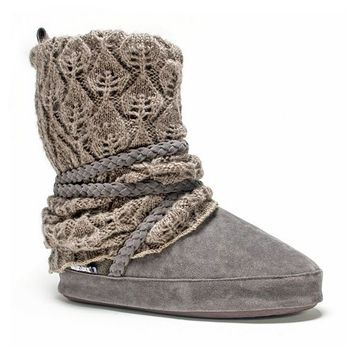 MUK LUKS Women's Judie Knit Boot Slippers