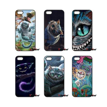 Alice in Wonderland Cheshire Cat For iPod Touch iPhone 4 4S 5 5S 5C SE 6 6S 7 Plus Samung Galaxy A3 A5 J3 J5 J7 2016 2017 Case