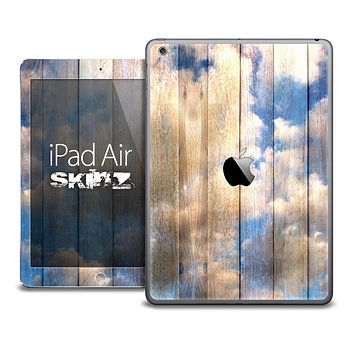 The Cloudy Wood Planks Skin for the iPad Air