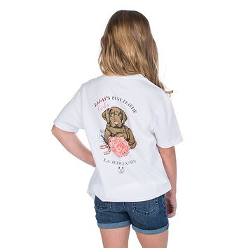 Youth Girl's Best Friend Tee in White by Lauren James