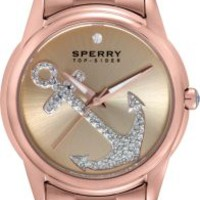 Sperry Top-Sider Audrey Anchor Bracelet Watch RoseGold, Size One Size  Women's