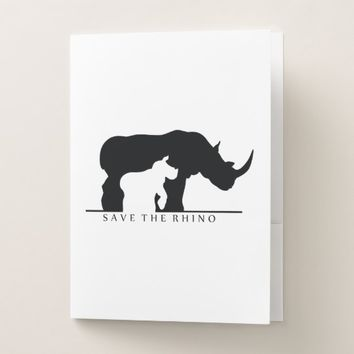 Save the Rhino Pocket Folder