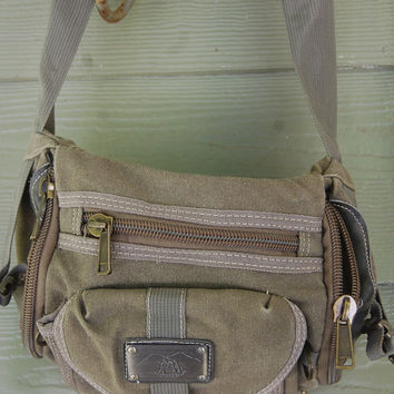 Vintage 90s Canvas Military Olive Drab Fanny Pack
