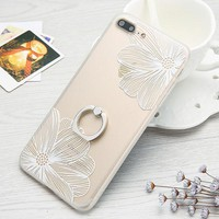 White Flower Case for iPhone 6 6s 6+ 7 7+