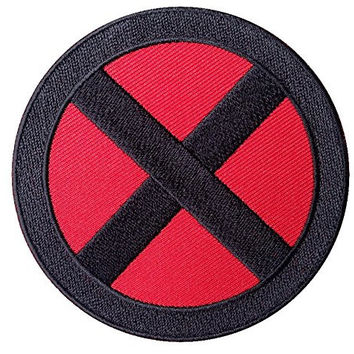 "X-men Storm Red/black ""X"" 3.25"" Logo Applique Costume Cosplay Patch"