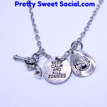 **Limited Edition** Keep Calm & Kill Zombies Necklace