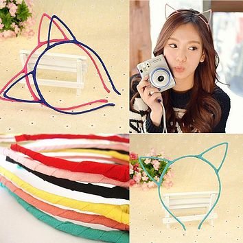New Arrival cosy 6 Colors Stylish Women Girls Cat Ears Headband Hairband Sexy Head Band Self Photo Prop Hair Band Accessories