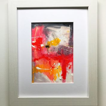 014 Original Abstract  Art on Paper. Free-shipping within USA.
