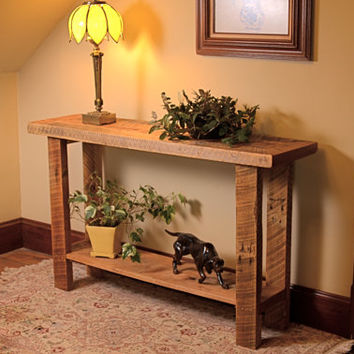 Rustic Barn Wood Buffet/Sofa Table