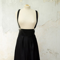 Black Jumper Skirt High Waisted with Removable by karmologyclinic