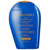 Shiseido Ultimate Sun Protection Lotion Broad Spectrum SPF 50+ Wetforce For Face/Body (3.3 oz)
