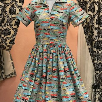 Drive-in Dress In For The Record print