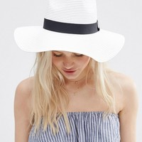 ASOS Straw Fedora Hat at asos.com