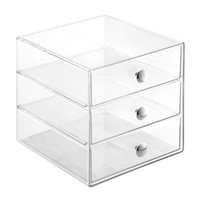 3 Drawer Storage Clear Organizer for Cosmetic Makeup Jewelry Crafts, Office Supplies Must Have