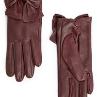 MANGO - ACCESSORIES - Hats, Gloves and Scarves - Bowknot leather gloves