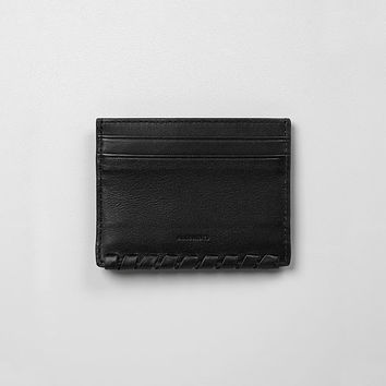 ALLSAINTS US: Womens Kita Small Leather Wallet (Black)